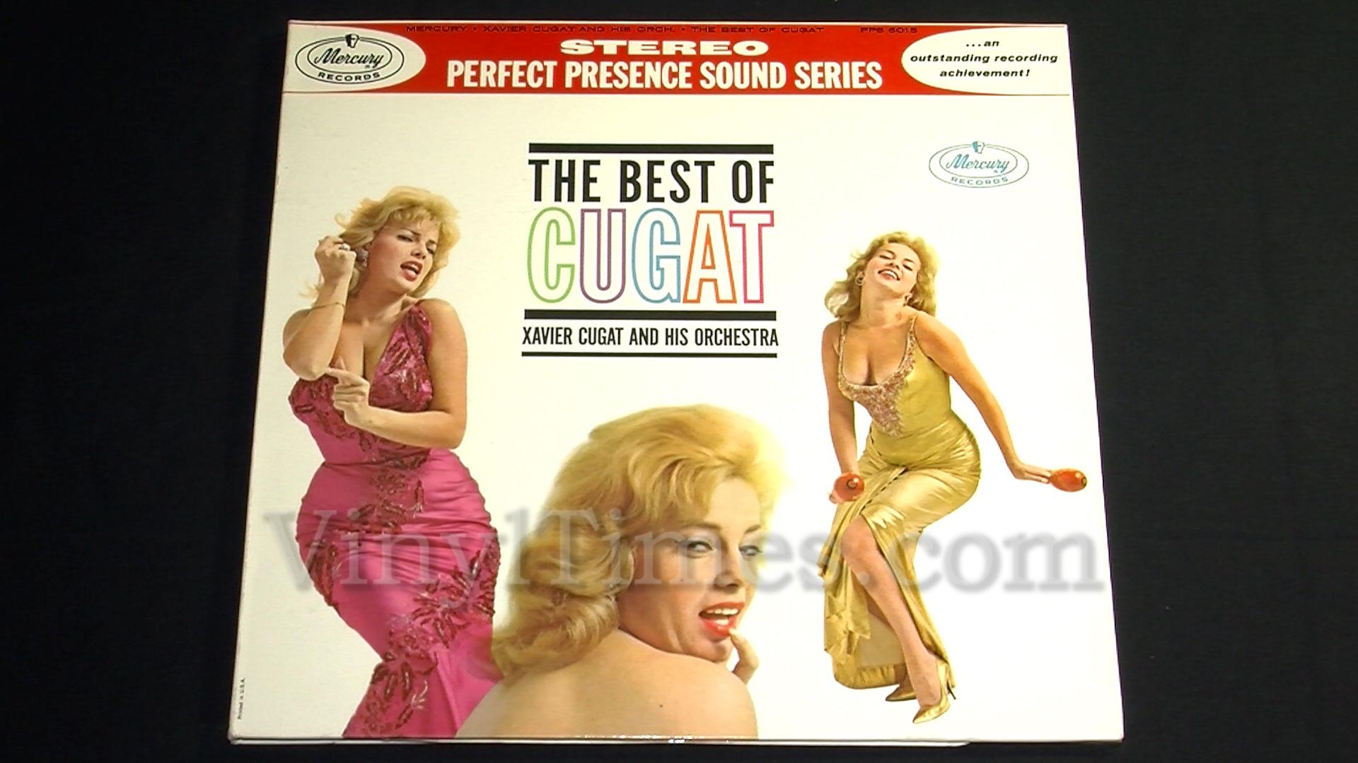 "Xavier Cugat - ""The Best Of Cugat"" Vinyl LP Record Album gatefold cover"