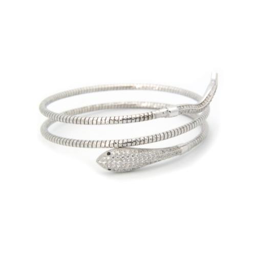 double snake white gold bracelet
