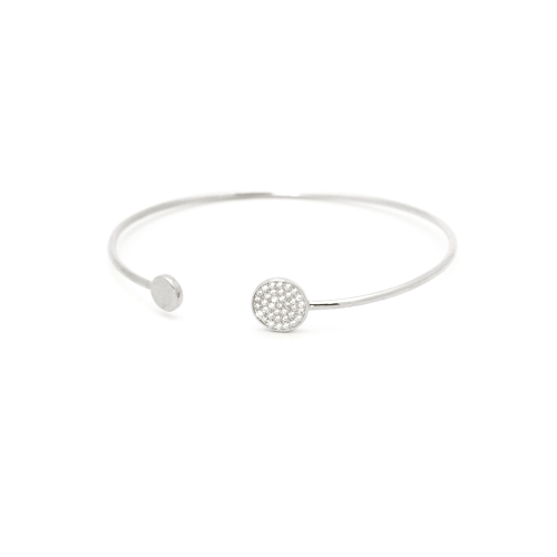initial cuff bracelet white gold