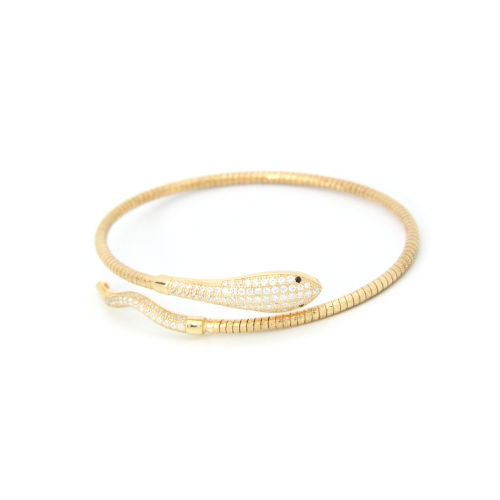 Single Snake Wrap Bracelet Yellow Gold