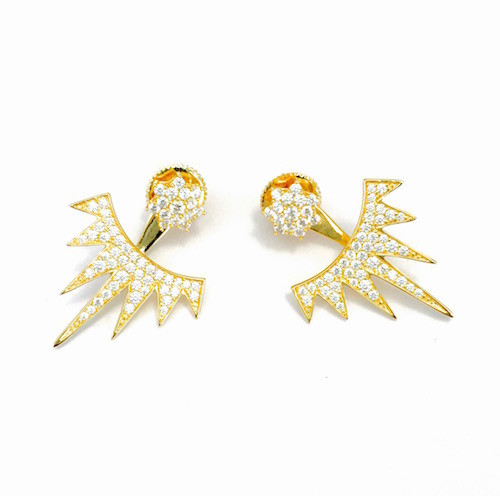 gold spike earring