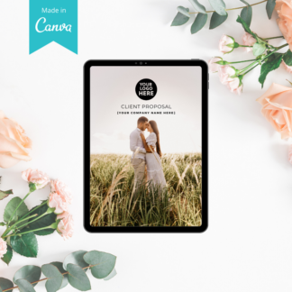 canva proposal template wedding planner