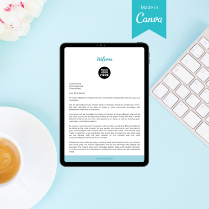 client welcome letter wedding planner
