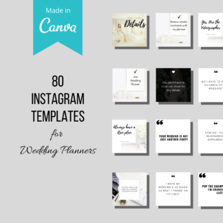 Instagram template event planner