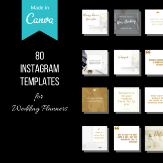 instagram templates for wedding planners