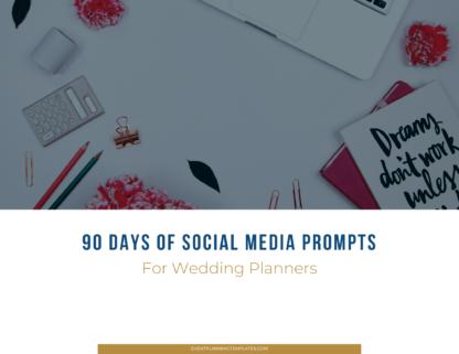instagram prompts wedding planners