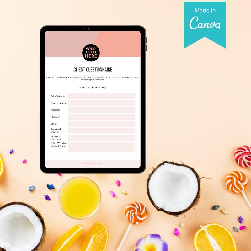 event planner client questionnaire