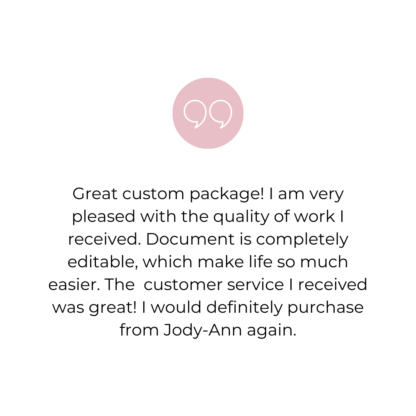 Welcome package review