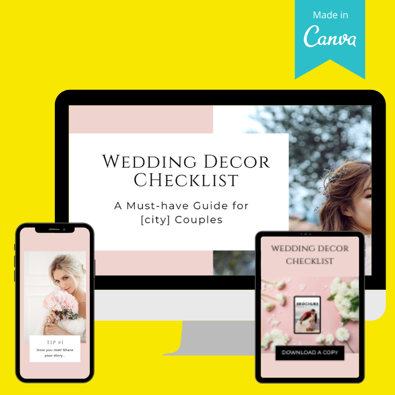Lead magnet for Wedding Planners (eBook ideas)