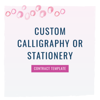 custom calligraphy contract
