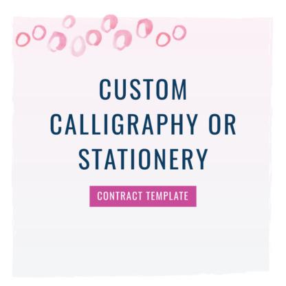 custom calligraphy contract
