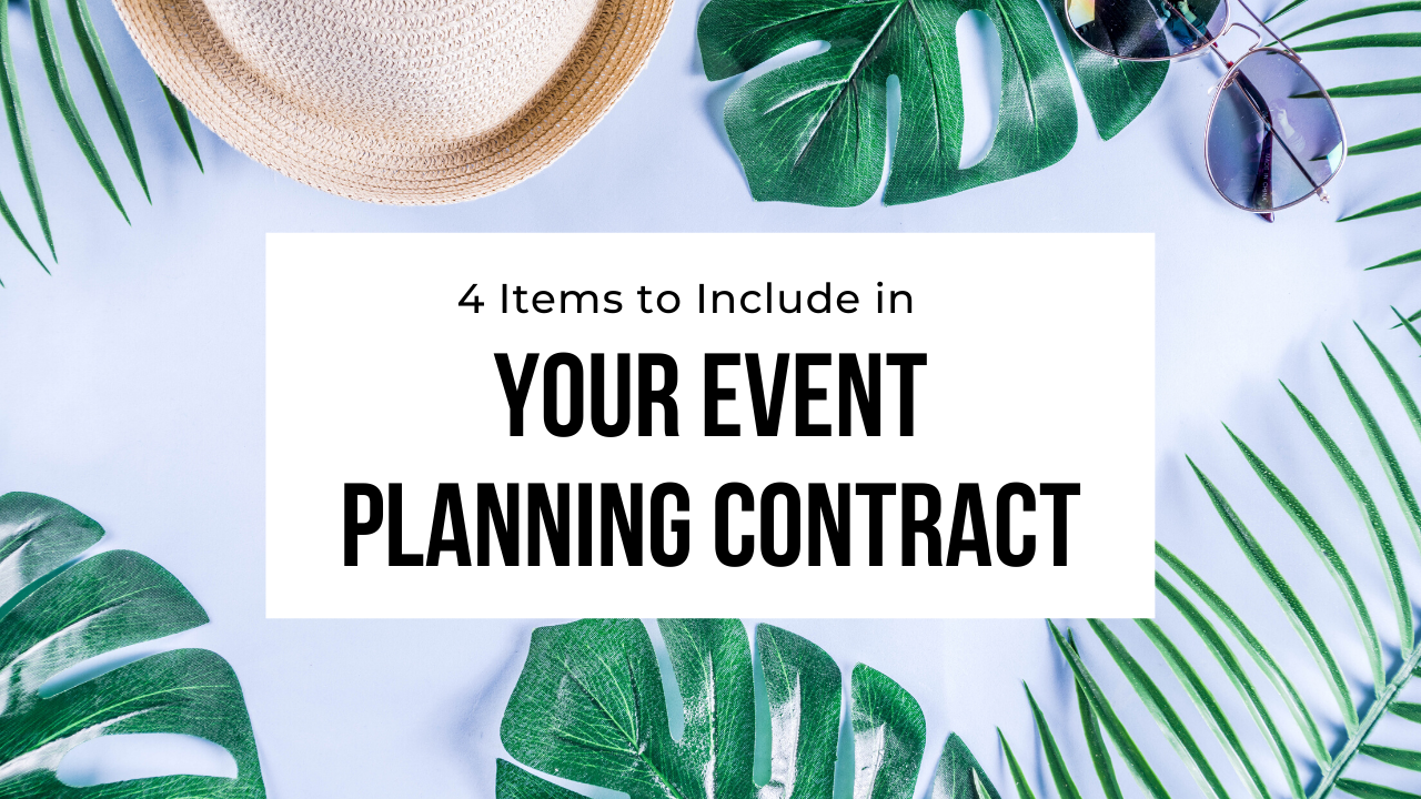 event planning contract items template