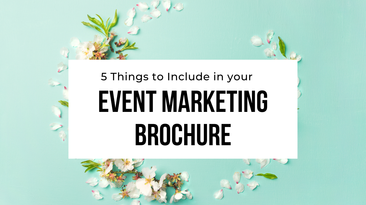 marketing brochure event planners