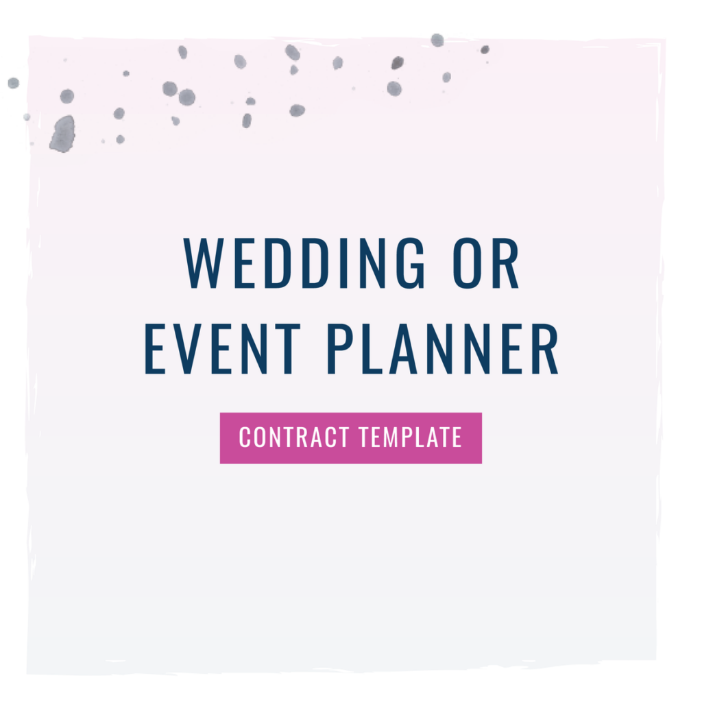 wedding planner contract