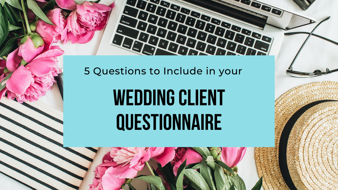 wedding client questionnaire header