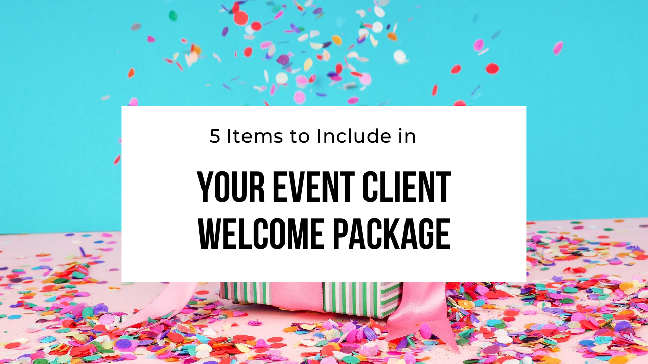 event planning client welcome package