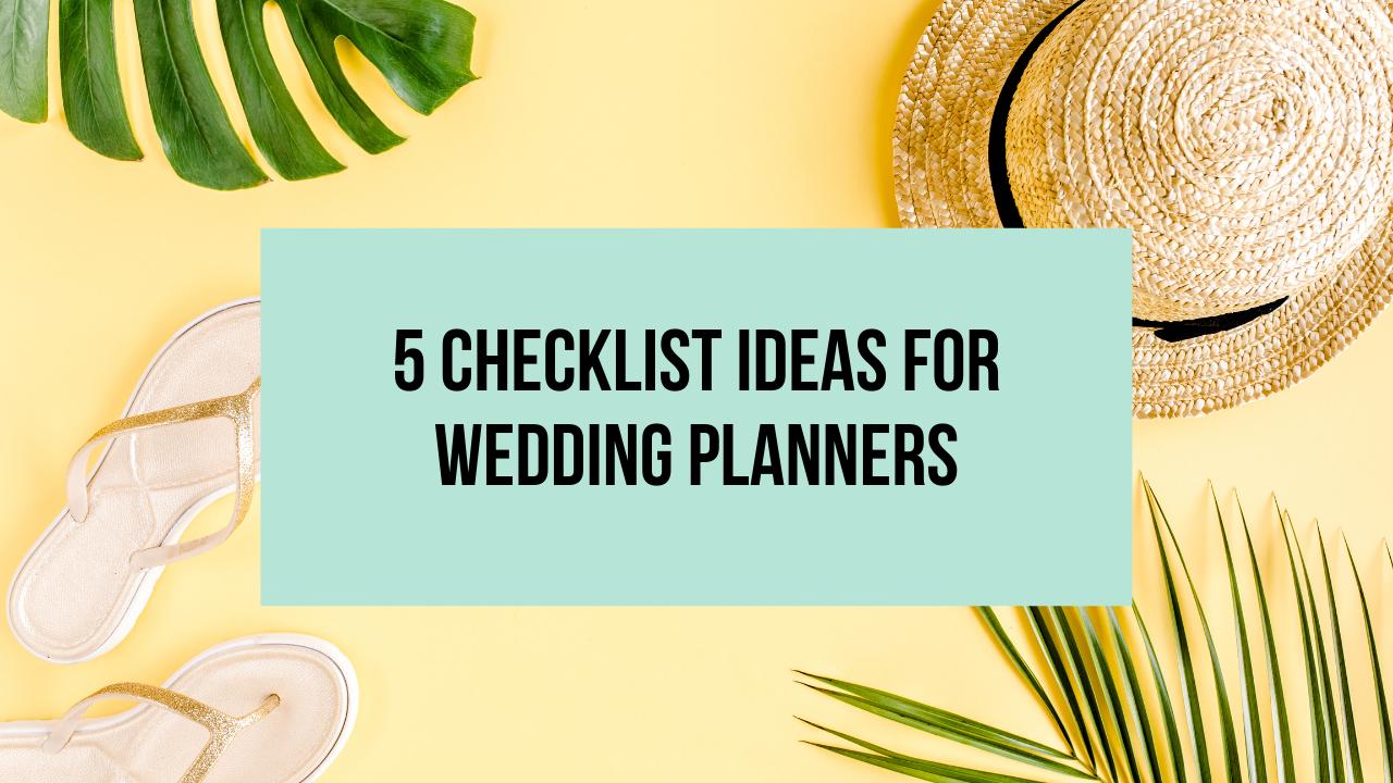 checklist ideas for wedding planners