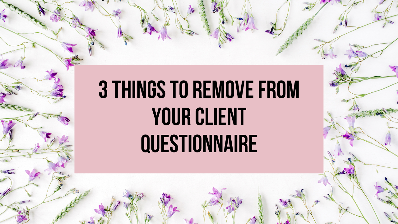 things to exclude from your websitting client questionnaire