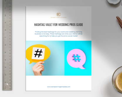 Hashtag Vault guide for wedding planners