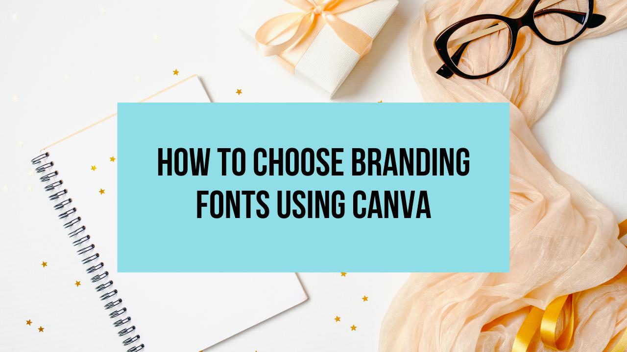 canva branding fonts