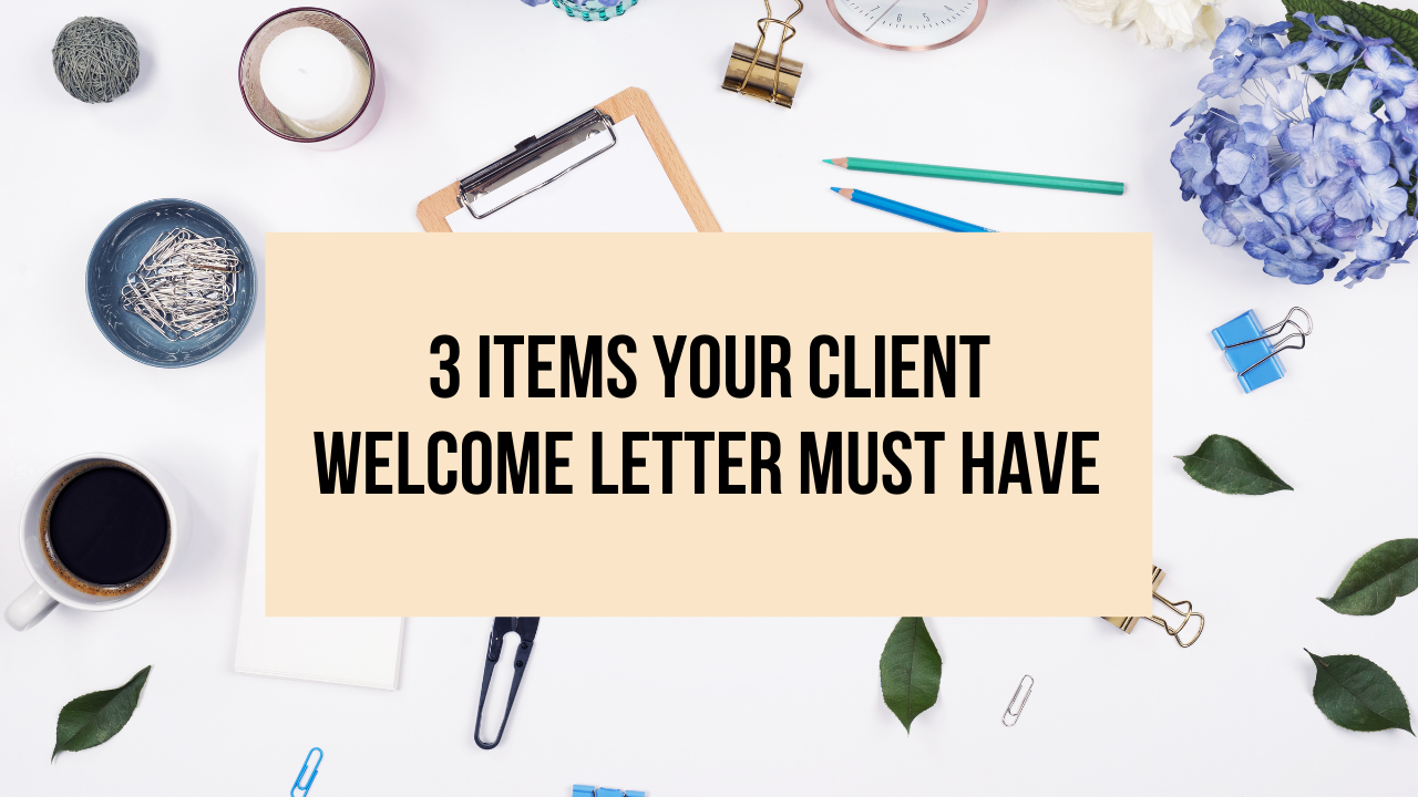 client welcome letter must have