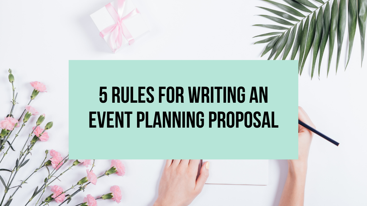 writing an event planning proposal