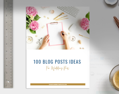 blog post topic ideas for wedding pros