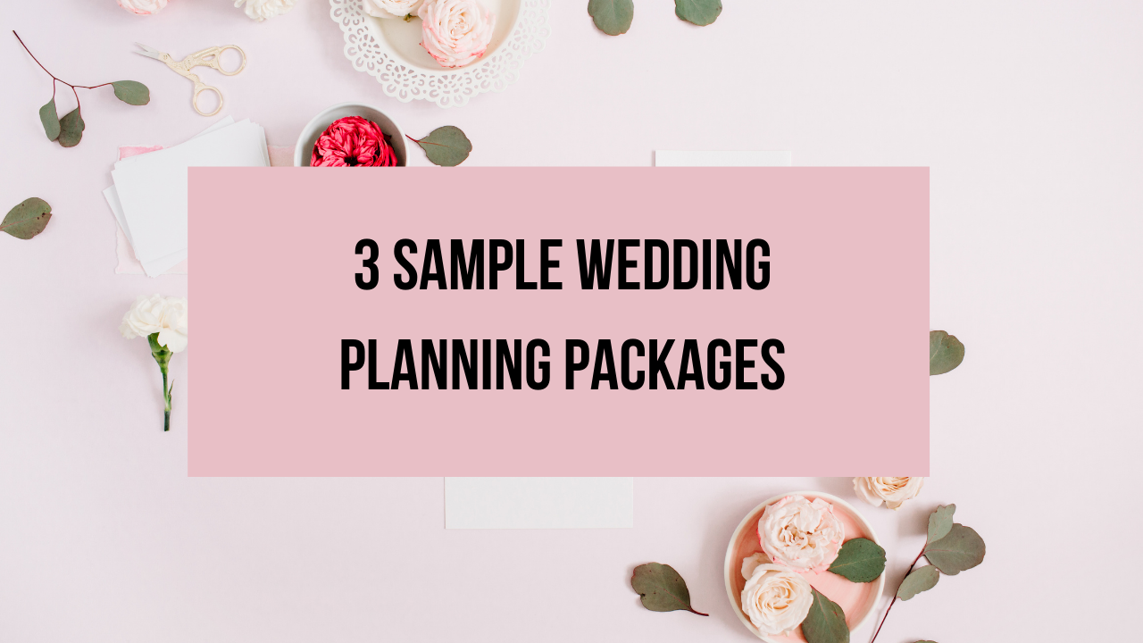 3 Sample Wedding Planning Packages