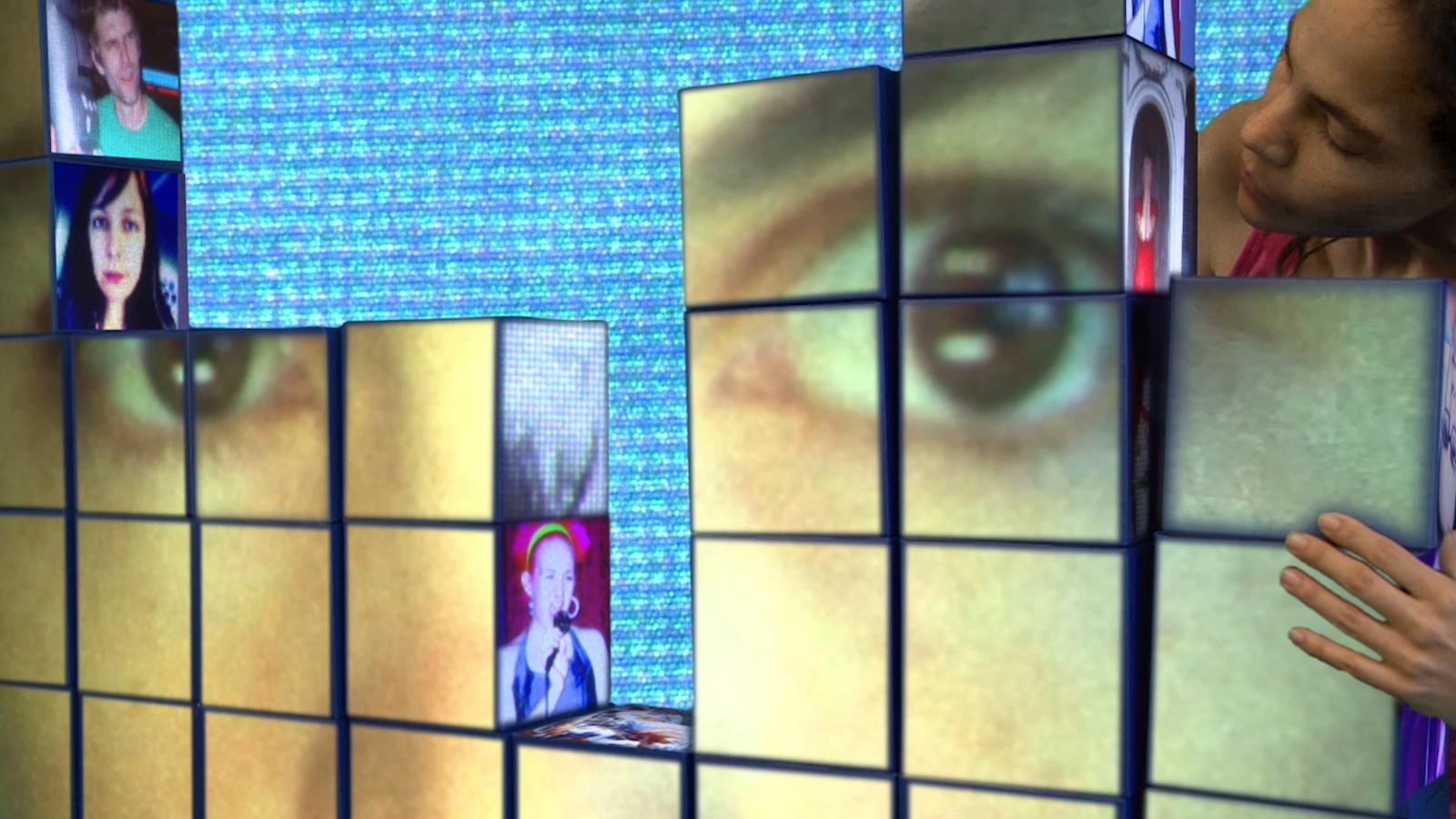 Still from Semi Transparent video art