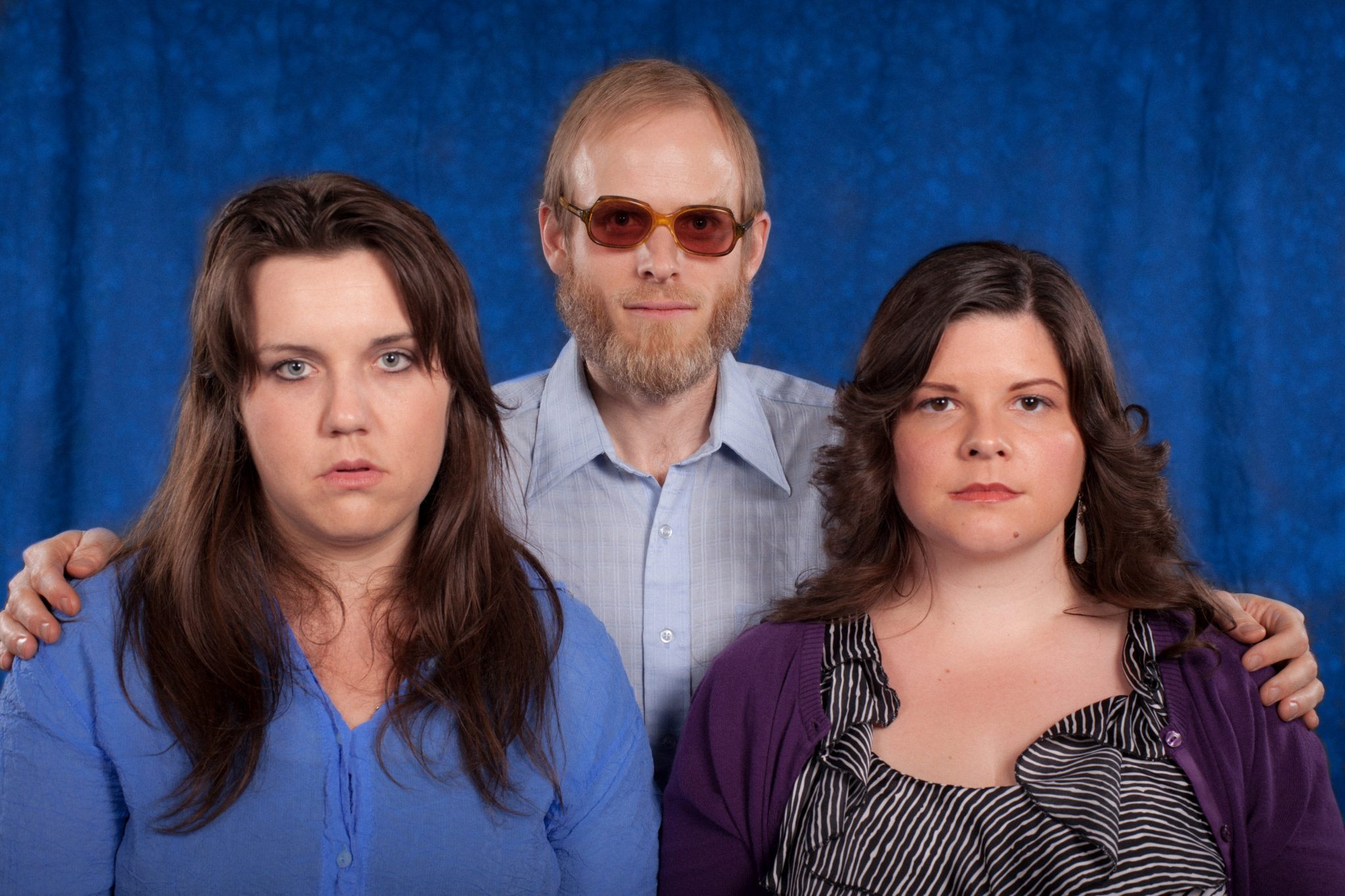 Staged family portrait
