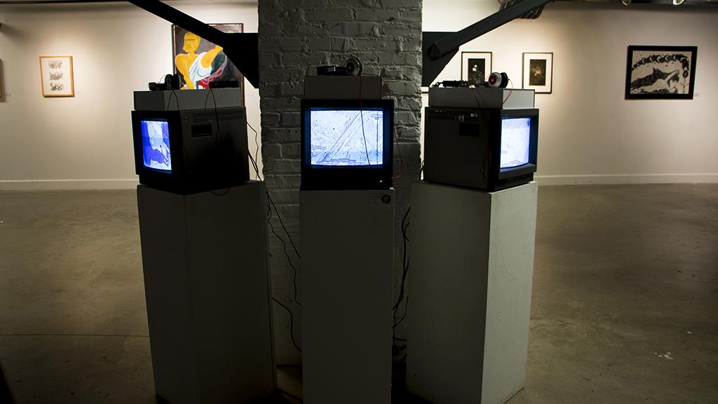 Video installation in Chris White Gallery