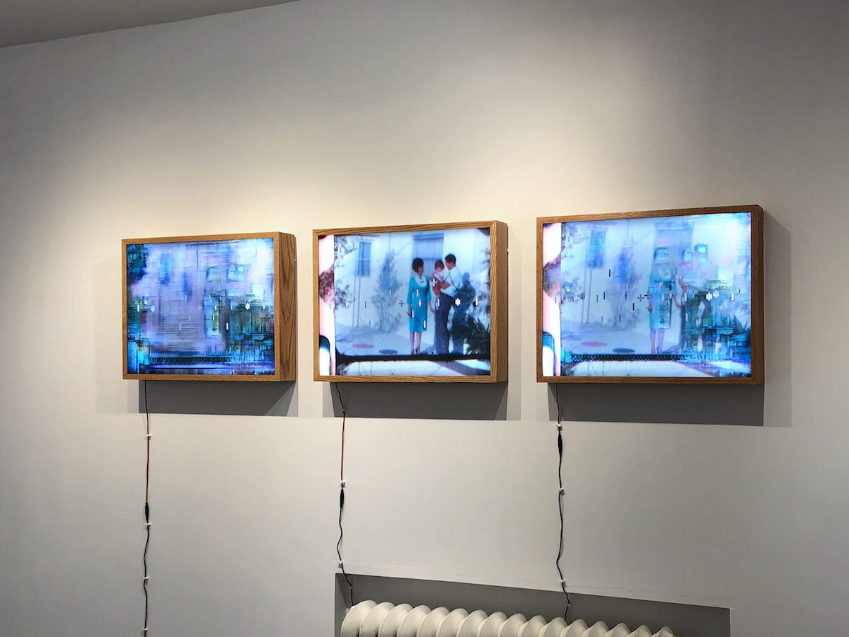 3 light boxes titled Family Reunion