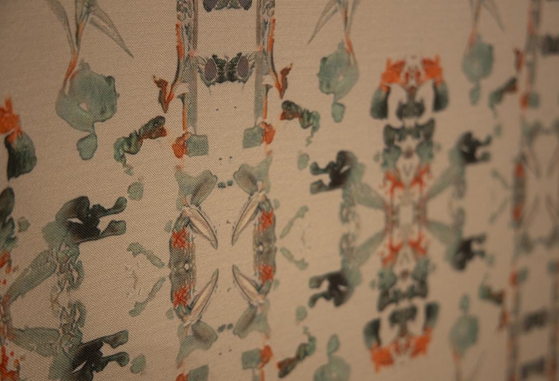 Detail algorithmic generated wallpaper design
