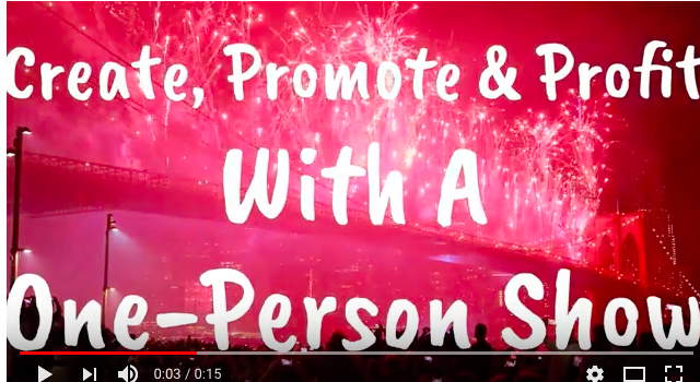Create Your One-Person Show (50% Off Independence Day Sale)