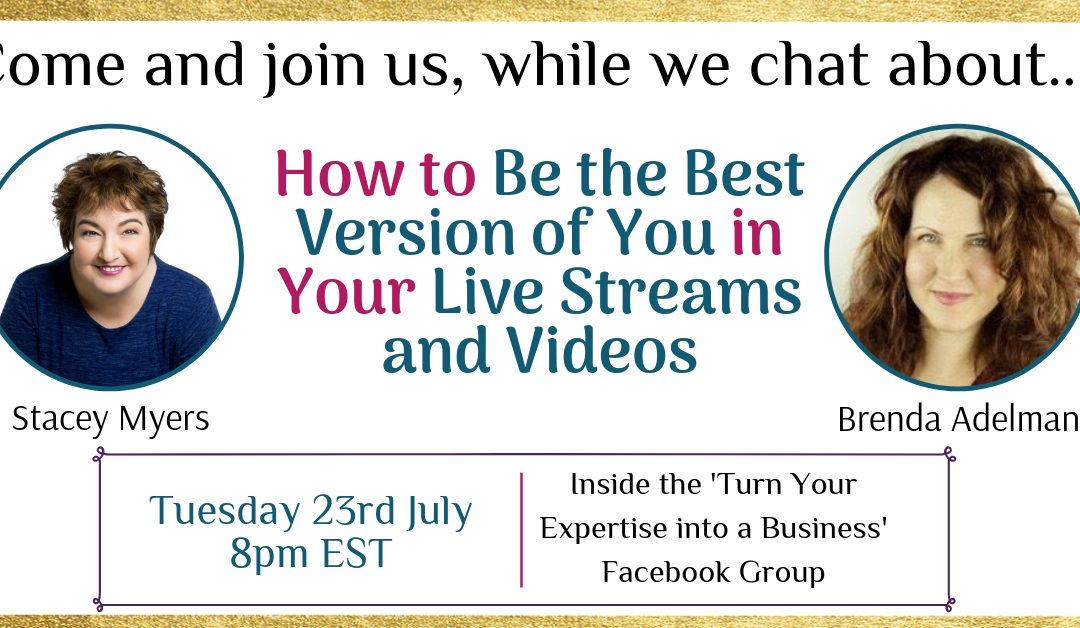 How to Be the Best You in Your Live Streams (training today)