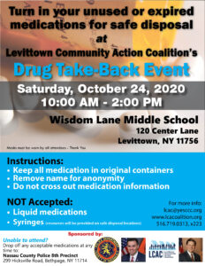 Drug Take Back Event @ Wisdom Lane