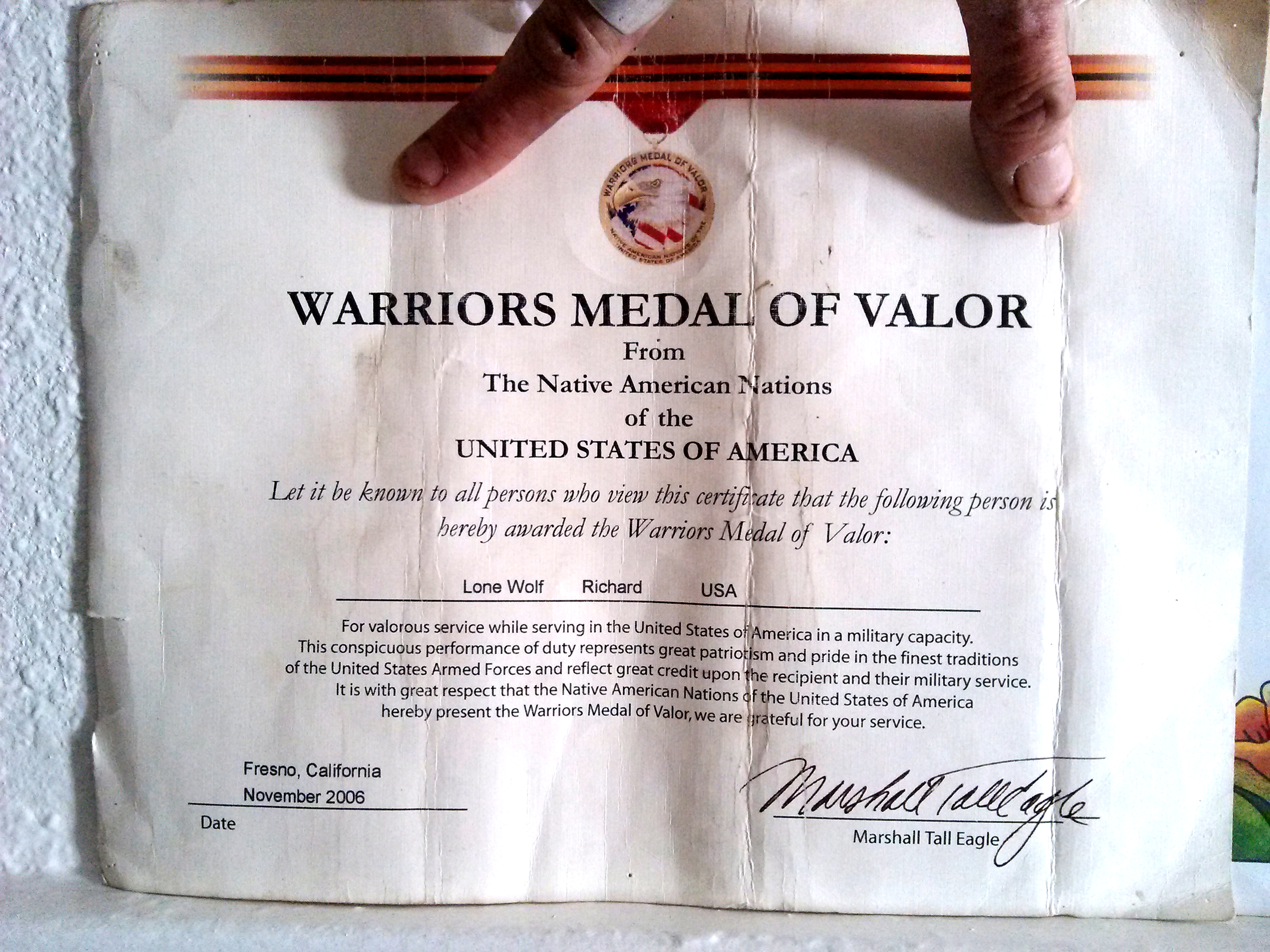 Warrior's Medal of Honor