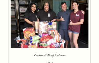 Random Acts of Kindness Donated various food items to River of Life Mission.