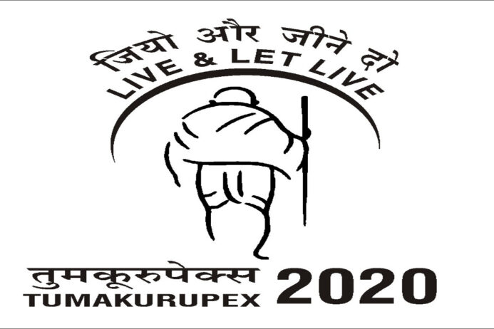 Releasing Jainism Philately Material in TUMAKURUPEX 2020