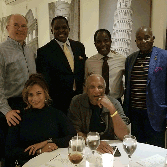 HWDC Pres/ CEO Darnell Sutton with Mt. Vernon Mayor Andre Wallace; Crown Castle Executives, Joanne Piquion & Curt Fox; Former Mayor Mt. Vernon Ernie Davis and Chairman NBRC, Fred Brown.