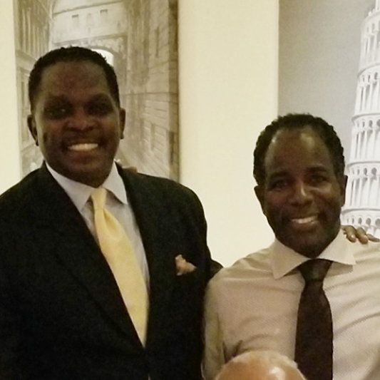 HWDC Pres / CEO Darnell Sutton with Mt. Vernon Mayor Andre Wallace
