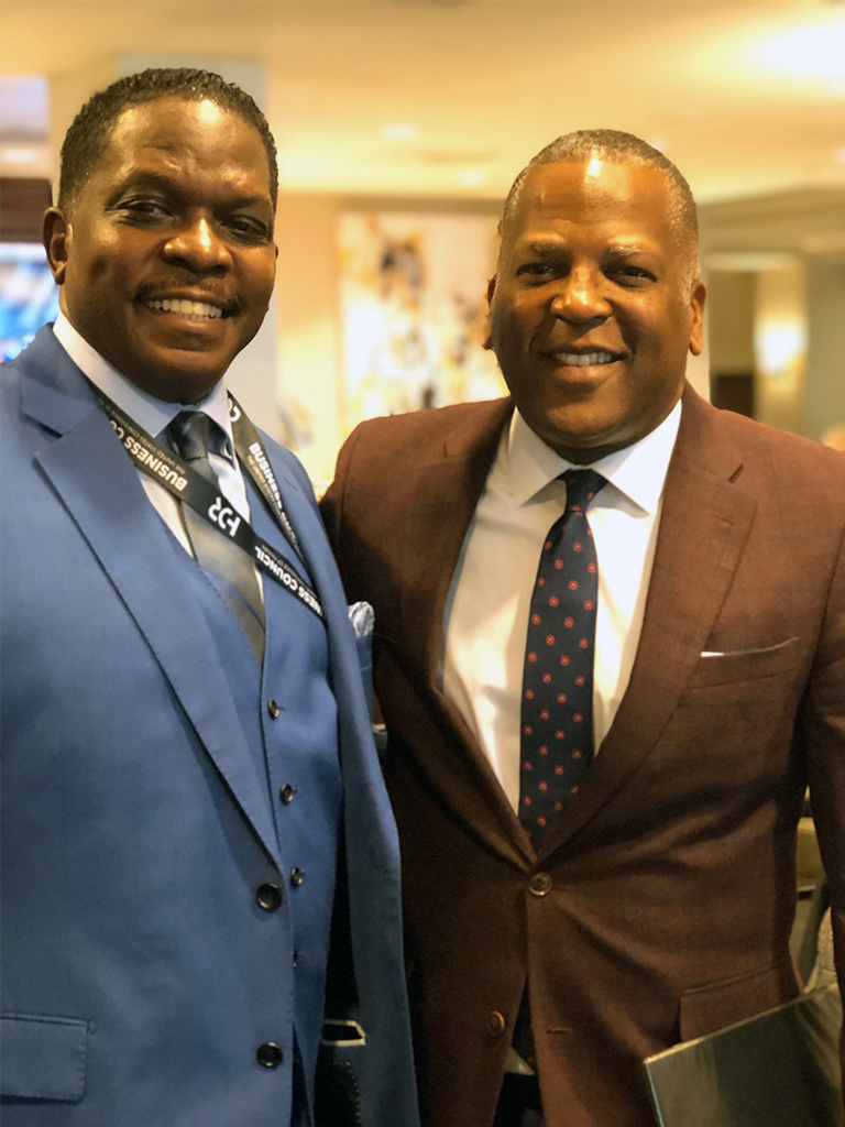 Darnell Sutton, CEO HWDC meets with Mayor Stephen K Benjamin, Columbia SC to discuss Smart City Development and 5G Infrastructure