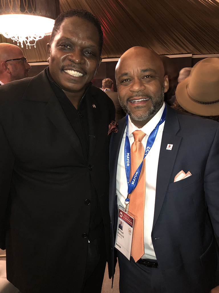 Darnell Sutton, CEO HWDC meets with Mayor Michael Hancock, Denver, CO to discuss Smart City and 5G Infrastructure technologies