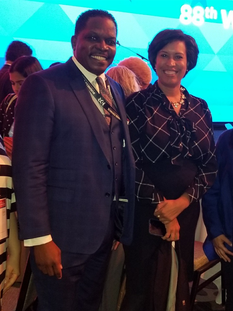 Washington DC Muriel Bowser with Darnell Sutton at The United States Conference of Mayors 88th Winter Meeting - 2020
