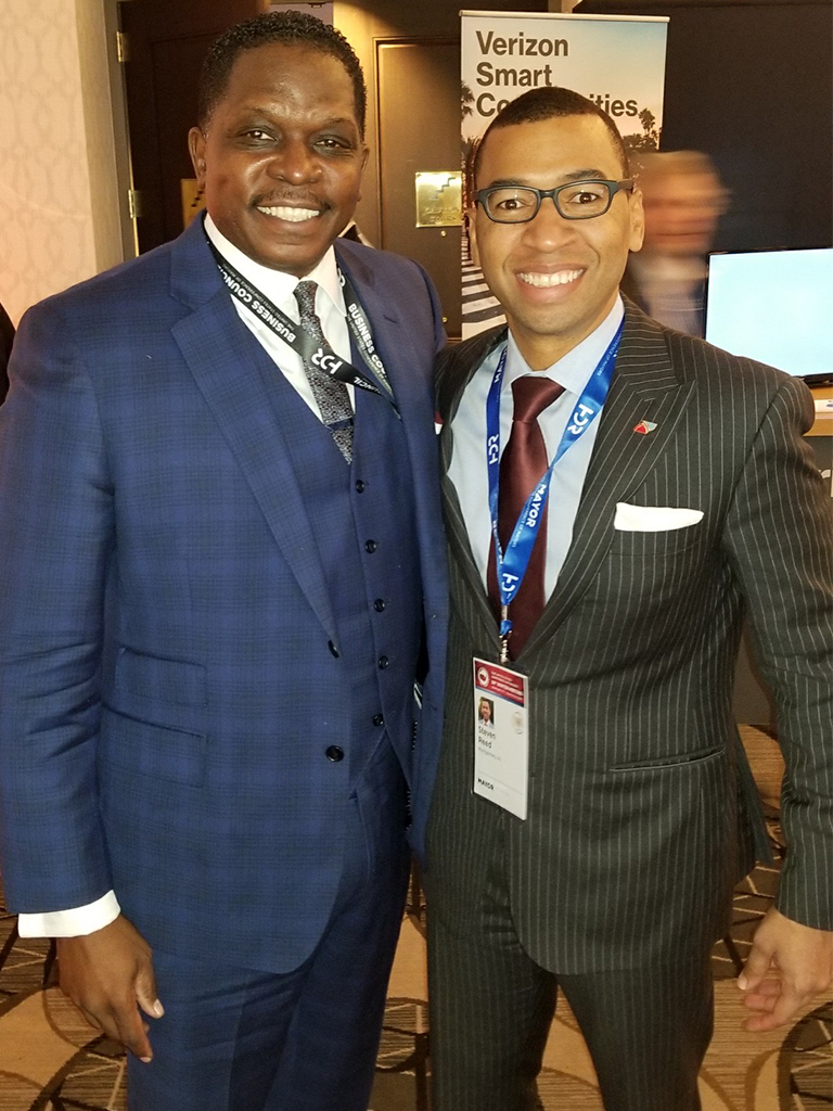 Darnell Sutton, CEO HWDC meets with Mayor Steven Reed, Montgomery, Alabama to speak about 5G Networks