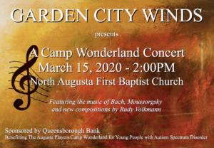Garden City Winds Concert 3.15.20 poster