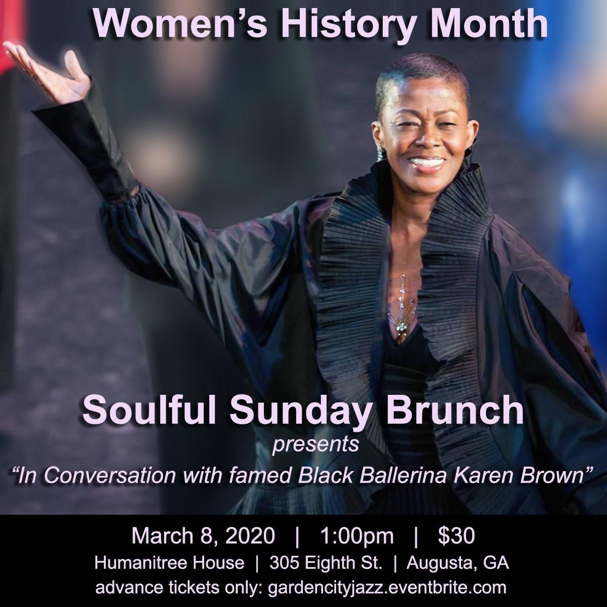 Karen Brown Soulful Sunday Brunch poster
