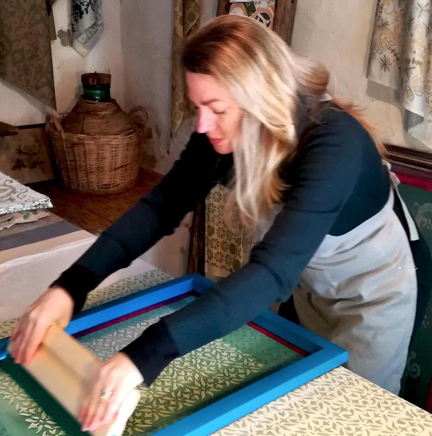 artist Laura Fair screenprinting textiles