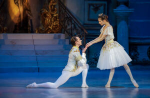 cinderella and prince on stage