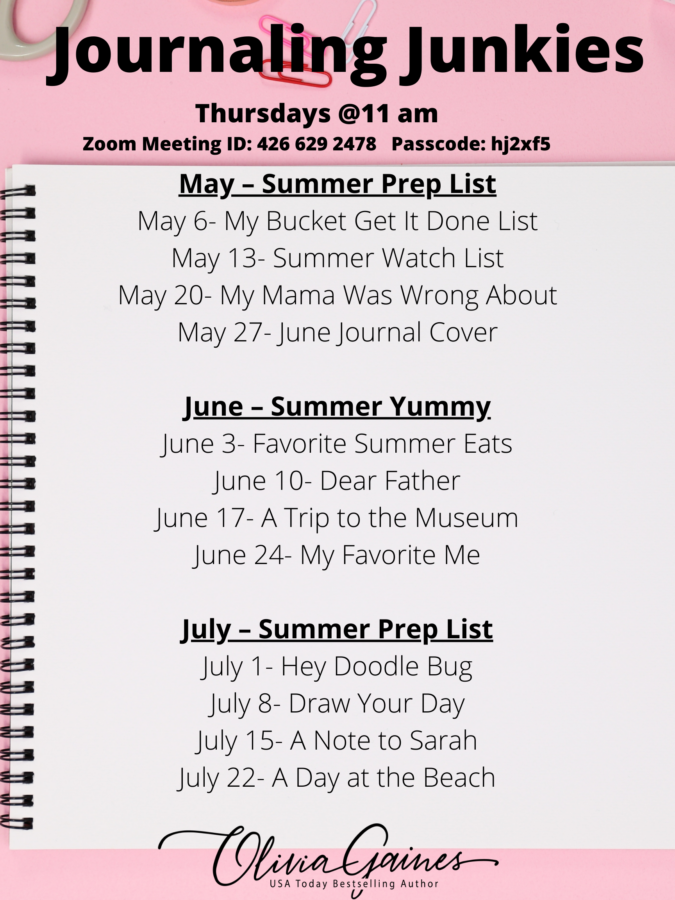 journaling prompts written on pink background